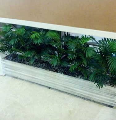 Airy Palm Rectangular Planter