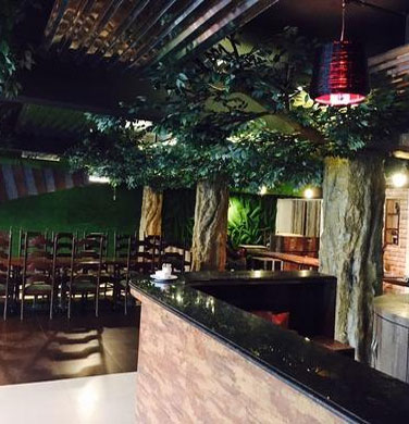 RCC Piller Cover as a Tree For Restaurant
